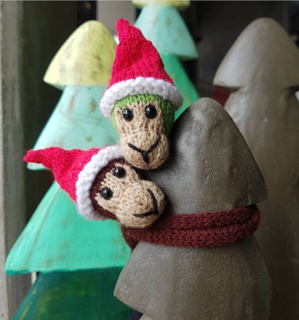Christmas Monkey Duo