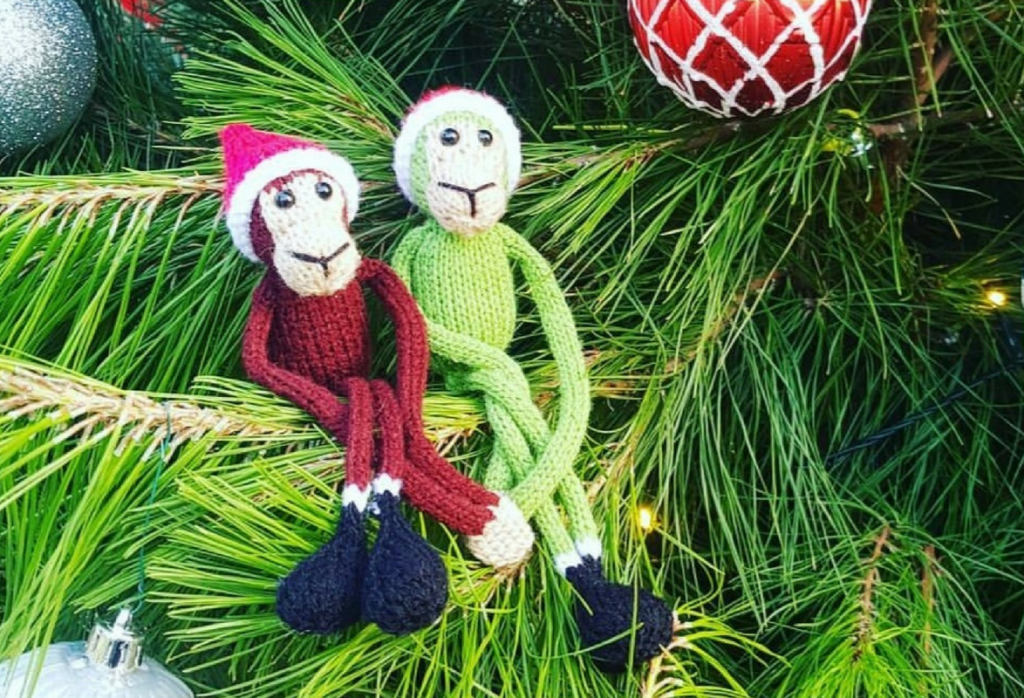 Christmas Monkeys Duo