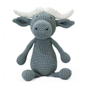 Ethically made knitted water buffalo