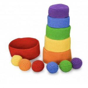 Rainbow Stacking Bowls & Balls Set