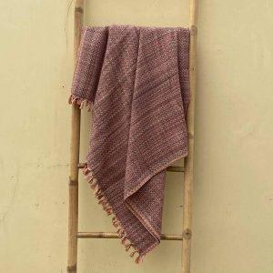 Plum Weave Blanket