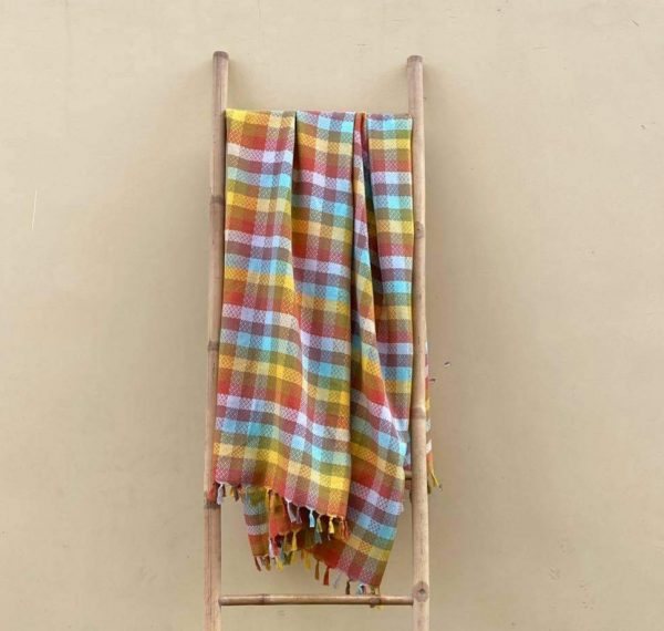 **SOLD OUT** Rainbow Squares Handwoven Blanket