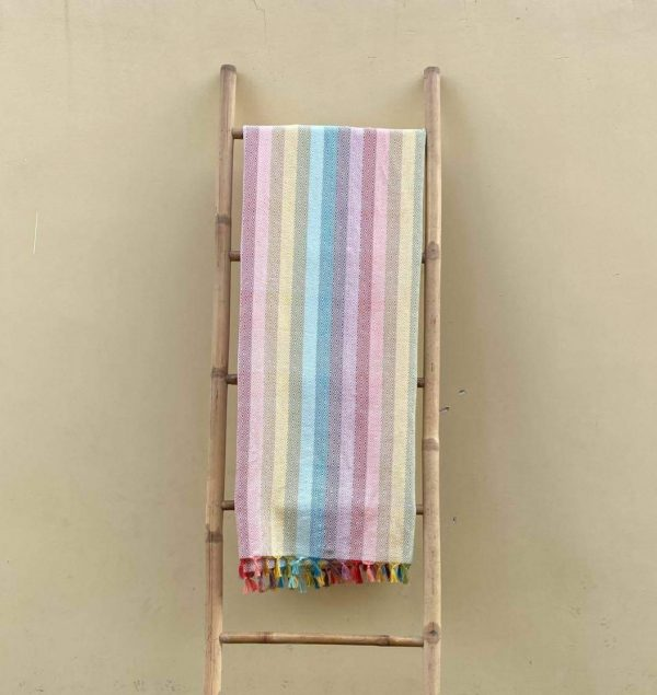 **SOLD OUT** Rainbow Stripes Handwoven Blanket